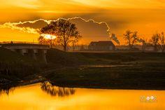Woordloze Woensdag Biesbosch Zonsondergang