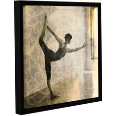ArtWall Elena Ray Living Prayer Gallery-Wrapped Floater-Framed Canvas, Size: 18 x 18, White