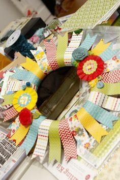 Ain't She Crafty: Neighborhood Craft Night - Paper Wreaths