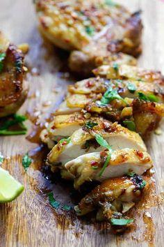 recette de poulet au citron et coriandre