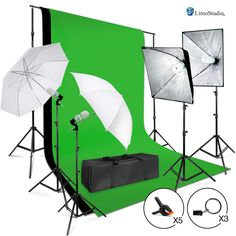 LimoStudio Photo Studio Lighting Kit with Background Support System & Umbrella Softbox Lighting Kit, Photo Video Studio.