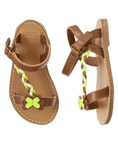 Toddler Girls Honey Brown Butterfly Braided Sandals by Gymboree. imported and Collection Name: Butterfly Fields. Little Girl Shoes, Cute Baby Shoes, Toddler Girl Shoes, Baby Girl Shoes, Baby Kids Clothes, Youth Shoes, Kid Shoes, Girls Shoes, Baby Sandals