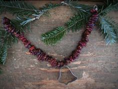 CranBerry Garland with Cookie Cutter
