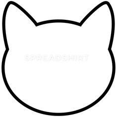 Cat Applique, Applique Patterns, Quilt Patterns, Applique Templates, Cat Outline, Animal Outline, Cat Template, Templates Printable Free, Crown Template