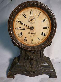 Antique 1910s Seth Thomas Cobra Long Alarm Mantel Clock Clocks Old