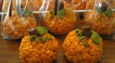 Rice krispies treat pumpkins
