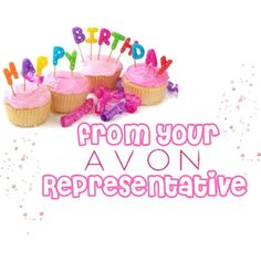 """""""Happy Birthday from AVON Rep."""" by maggie-keachie on Polyvore"""