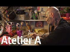 Dans l'atelier de Jean-Luc Verna | sculpteur et acteur | ARTE Creative Jean Luc Verna, Arte Creative, Jeans, Painting, Atelier, Painting Art, Paintings, Gin, Jeans Pants