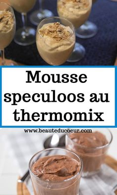 Mousse Speculoos, Dessert Thermomix, Eclairs, Crockpot Recipes, Deserts, Food And Drink, Menu, Cooking, Breakfast