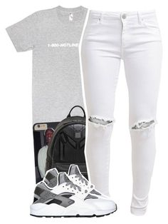 """"" by lovebrii-xo ❤ liked on Polyvore featuring MCM, FiveUnits and NIKE"