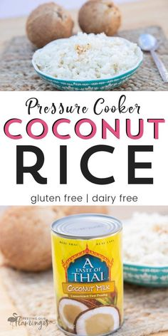 Pressure Cooker Recipes 56224695334427312 - This creamy, savory coconut rice is so quick in your Instant Pot or pressure cooker and tastes crazy good with pretty much anything you pair it with! Source by Upliftingmayhem Instant Pot, Rice Recipes, Gourmet Recipes, Lunch Recipes, Asian Recipes, Dinner Recipes, Healthy Recipes, Cooking App, Cooking Bacon