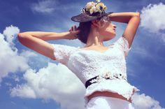 Otalora•Rohana • sombrero sinamay • hecho a mano • cinto bordado • piezas uncas