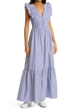 Wondering what to wear to a spring wedding? We've got all the 2021 trends and 50 spring wedding guest dresses to get you started. Pleated Midi Dress, Lace Sheath Dress, White Maxi Dresses, Ruffle Dress, Cotton Dresses, Pretty Dresses, Beautiful Dresses, Ruffle Trim, Cocktail Wedding Attire