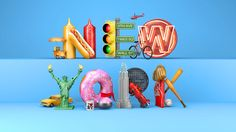 A series of 3D typography executions to celebrate three of the most traveled…