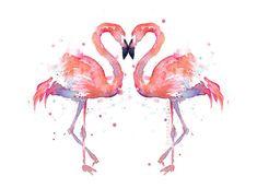 Flamant rose amour aquarelle peinture - Art Print - deux flamants roses Impression jet d'encre de mon aquarelle originale de deux flamants roses magnifiques. -Encres à pigments d'archives haute qualité -4 x 6, 5 x 7, 8 x 10, 8,5 x 11 tirages: sur papier d'art 100 % coton (64 g/m²) -13 x 19, 12 x 16, 11 x 14» imprime: sur 13 x 19 Epson papier aquarelle -Trouvera sa place dans les cadres standards -Sans marges, sauf indication contraire Recadrage de l'image varie légèrement avec diff...