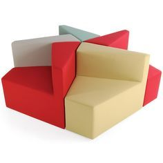 HM77 Modular Chairs have a simple, fun and inventive design which combines the simple geometry of wedge-shaped seats and creates crystalline forms. The HM77 Soft Seating System is available in three versions: with left- or right-handed backrest, or without back. http://www.apresfurniture.co.uk/hm77-modular-chairs