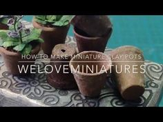 How to make miniature clay pots - YouTube
