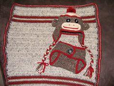 Unique. Just Like Everyone Else...: Sock Monkey Baby Set (Crochet)