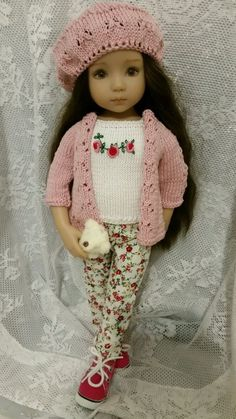 OOAK SPRING knitted outfit for Dianna Effner Little Darling 13""