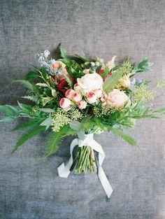garden bouquet - photo by Allison Marie Photography http://ruffledblog.com/wedding-inspiration-at-longview-mansion #weddingbouquet #bouquets