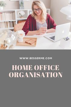 Home Office Organisation - BesserMe Home Office Organization, Entrepreneurship, Motivation, Female, Workplace, Tips And Tricks, Decorating, Ad Home, Inspiration
