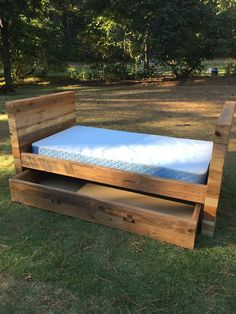 trundle bed - daybed - wrapped design - customized - custom - handmade trundle bed - made to order - day bed built to order Includes the headboard, footboard, rails, and trundle drawer storage unit.  Species we often use when crafting beds in this design: oak, poplar, pine, cherry, and other species of reclaimed wood we have in-stock at time of production.  *Design Capabilities*  We can tailor this design to your preferred dimensions and design specs.  Want a bed or headboard design that is…