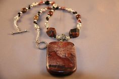 Jasper and Black Oynx Necklace