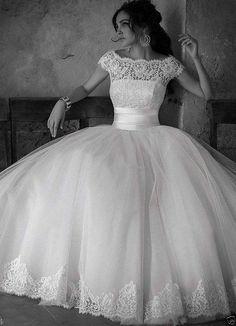 2014 New White/Ivory Wedding dress Bridal Gown Custom Size6-8-10-12-14-16+++++++ #Handmade #BallGown #Formal