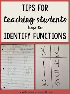 Tips for Teaching How to Identify Functions - In eighth grade, we learn about identifying functions pretty early in the year. To help my students remember the rule I have a few tricks up my sleeve, and today I'm sharing them with you. By Free to Discove