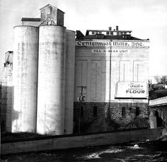 Centennial Mills flour mill Spokane WA. The first businesses in Spokane, after early trading posts, were water-powered grain and timber mills. Four major grain mills were established in early Spokane: C&C, Echo, Spokane Flour and Centennial Mills. The history of Centennial mirrors the growth of wheat and corporate agriculture in the 20th century.