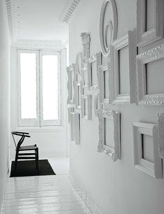 White baroque frames