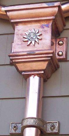 Copper Sun Leaderhead, A.B. Rain Gutters, Inc.