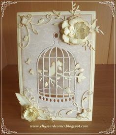 Ellys Card- Corner: Tweet tweet tweet :-)  I keep seeing these beautiful dies, and now I know.  This is so elegant.