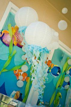 Under the Sea Water Party via Kara's Party Ideas Kara'sPartyIdeas.com #SeaCreatures #PartyIdeas #Supplies #Ocean #WaterFight #SummerPartyIdea (4)
