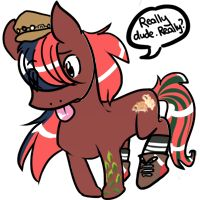 My pony persona Jellybeans, drawn by BeefyDia on the MLPArena.