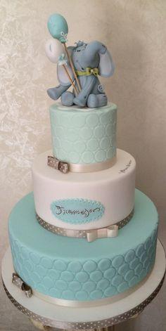 cute baby boy elephant cake