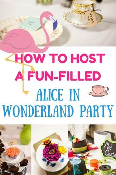 Fun Alice In Wonderland Tea Party On Budget. Host a Magical Tea Party With Alice and Mad Hatter. Play fun birthday party games and enjoy delicious tea party food surrounded by amazing Alice In Wonderland party decorations. Alice In Wonderland Tea Party Food, Alice Tea Party, Girls Tea Party, Tea Parties, Tea Party Games, Tea Party Theme, Birthday Party Games, Birthday Ideas, Birthday Recipes
