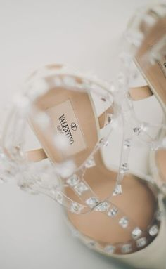 Obsessed with these nude @valentino rock stud pumps! Perfect for a glam wedding! {@mangostudios}