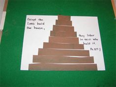 The Tower of Babel (Genesis like the verse on here. Sunday School Projects, Sunday School Kids, Sunday School Activities, Sunday School Lessons, Preschool Bible Lessons, Bible Lessons For Kids, Bible Activities, Bible For Kids, Children's Church Crafts