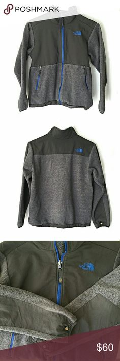 North Face Denali Jacket In good condition. Metal on sleeves shows tarnish. The size tag was cut off so I believe this to be a boys extra large. I am a size small and this fit very well. Smoke and pet free home. Ships within one day. North Face Jackets & Coats