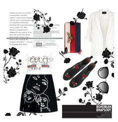 """""""Untitled #15"""" by stylernaomi on Polyvore featuring River Island, Gucci, Dolce&Gabbana, STELLA McCARTNEY and Charlotte Olympia"""
