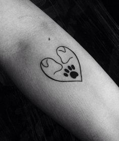 Perfectly captures my broken heart with my 2 girls #DogTattooIdeas