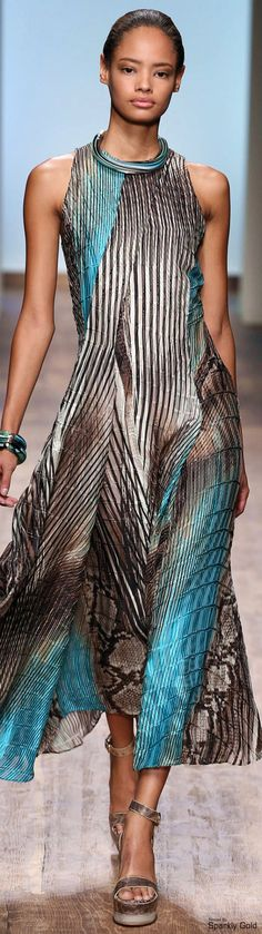 Salvatore Ferragamo Spring 2015 RTW women fashion outfit clothing style apparel @roressclothes closet ideas