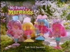 My Pretty Mermaids - Rainbow Mermaids ad - with MLP theme music Spice Girls Dolls, Girl Dolls, Childrens Dolls, Mermaid Toys, Pretty Mermaids, 90s Toys, 90s Childhood, My Little Pony, American Girl