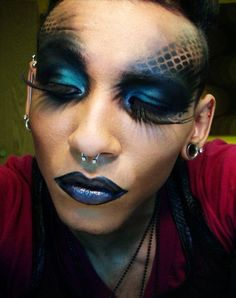 scary makeup look. #Halloween #costume