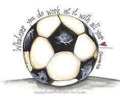 Soccer Print (Colossians 3:23)