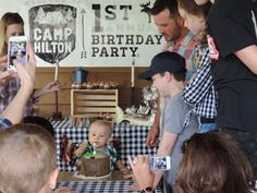 Camp-Themed First Birthday Party - Project Nursery
