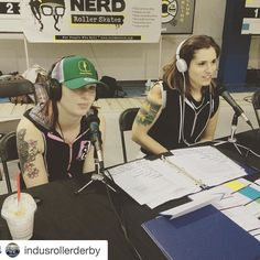 Yep.   #Repost @indusrollerderby with @repostapp.  When we're not beating each other up on the track we're announcing together like bosses. @crda_janedeere  #rollerderby #announcer #flattrackfever2016 #ESWdoesFTF by calgaryrollerderby