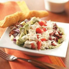 Chili b lime dresding on cobb salad