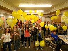 Arise and Shine Activity...release yellow balloons with girl's testimony written inside of it.